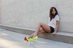 Neon Louboutin heels!