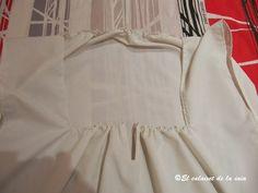 Paso a paso de la confección de camisa básica de mujer para indumentaria tradicional valenciana. Ruffle Blouse, Tops, Women, Fashion, Shirt Patterns, Vintage Clothing, Petticoats, Traditional, Step By Step