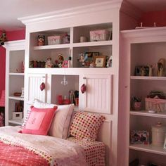 Teen Bedrooms Decoration Ideas and Design. I like it for an adult room in natural or dark wood, inset bed.