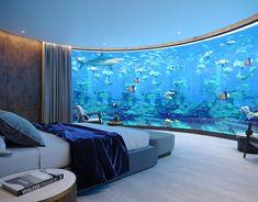 seaside villa - The world's most private search engine Wall Aquarium, Home Aquarium, Aquarium Design, Luxury Homes Dream Houses, Dream House Interior, Home Room Design, Home Interior Design, One Room Flat, Amazing Aquariums