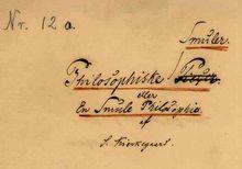 Kierkegaard's manuscript of Philosophical Fragments.