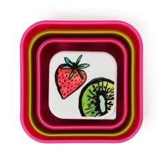 Tropical fruit snack boxes - set of 4