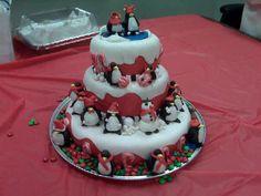 Penquins Christmas Cake