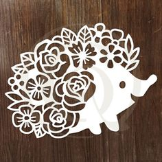 Papercut Floral Hedgehog SVG/DXF - Craft Genesis