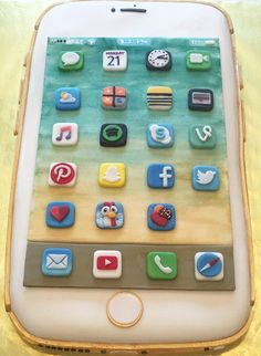 Make an iPhone Cake Iphone cake Cake and Cake designs