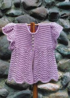 Oat Couture pattern BB218 Angel Sweater for Baby  #onefineyarn.com
