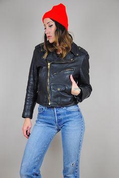 128b8d31c5d 60 s Lesco Leather MOTORCYCLE jacket