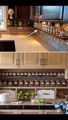 Spice rack/ shelves under cabinets!!