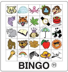 ESL Phonics Bingo 1 from ESL_Classroom on TeachersNotebook.com -  (9 pages)  - This pdf file includes 12 Phonics Bingo game boards and 26 images for use as draw cards.