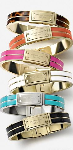 Michael Kors bangles (I have the black one and adore it!)