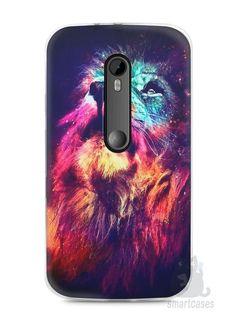 Capa Moto G3 Leão Colorido #3 - SmartCases - Acessórios para celulares e tablets :)