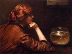 An Idle Moment - Oil on canvas - John White Alexander (1856-1915) - c. 1885.