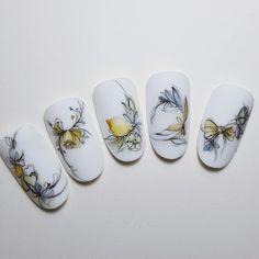 Rose Nail Art, Rose Nails, Flower Nails, Nail Manicure, Gel Nails, Hair Designs, Nail Art Designs, Fruit Nail Art, Water Color Nails