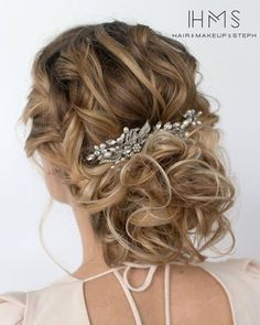 Hair and Makeup by Steph messy wedding hairstyle / http://www.deerpearlflowers.com/wedding-hairstyle-inspiration/hair-and-makeup-by-steph-messy-wedding-hairstyle/
