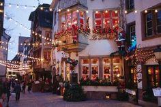 Canterbury, England at Christmas.