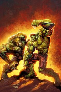 Hulk VS Abomination by Liam Sharp and Ryan Lord by RyanLord.deviantart.com on @DeviantArt