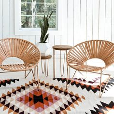 A modern version of the classic Acapulco chair, handcrafted in Mexico City using thick, natural leather. Made start to finish in a fair trade environment.