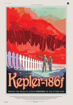 ... deutlich kälter als unsere, aber immer noch warm genug für Temperaturen über dem Gefrierpunkt. Ihr Licht ist in den rötlichen Bereich verschoben. Sollte es Pflanzen auf Kepler-186f geben, wäre ihre Photosynthese möglicherweise davon beeinflusst. Grünpflanzen wären es dann nicht; sie wären wohl rot.
