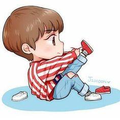 chibi wanna one jihoon Bts Chibi, Anime Chibi, Kawaii Anime, Cute Love Memes, Cartoon Fan, Kpop Drawings, Anime Version, Bae, Korean Art