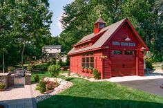 Grand Victorian Single Bay Garage Photos: The Barn Yard & Great Country Garages, Garage Shed, Small Garage, Barn Garage, Garage Plans, Shed Plans, Garage Ideas, Garage Workshop, Carport Ideas, Garage Office