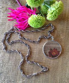 #boldstatementnecklace #paintedglasspendant #wordnecklace #thicksilverchainnecklace #redflowernecklace https://www.etsy.com/ca/listing/272737638/word-pendant-necklace-double-link-silver