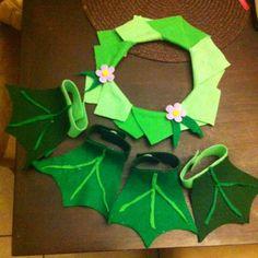 Baby frog costume make hand- 1 night