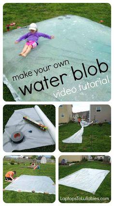 How to make a #backyard water blob { Video tutorial } LaptopsToLullabies.com #DIY