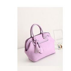 Candy-colored tassel handbag