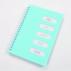 Cheap A4 school plastic spiral notebook