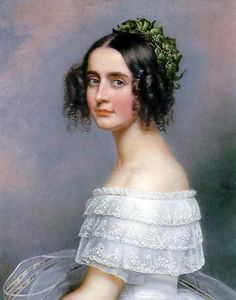 Joseph Karl Stieler — Portrait of Alexandra Amalie von Bayern, Joseph, Sister Pictures, Victorian Hairstyles, Empire, Miniature Portraits, St Anne, Elisabeth, Ludwig, Foto Art