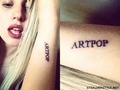 ARTPOP on her arm