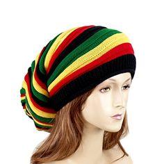 Reggae Baggie Beanie Hat Rasta Colors EchoMerx https   www.amazon.com 940bff60e0ac