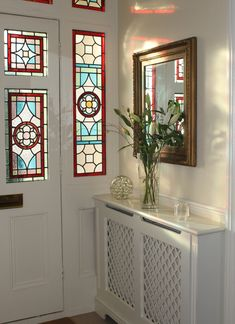 art nouveau stained glass door front door | house | pinterest