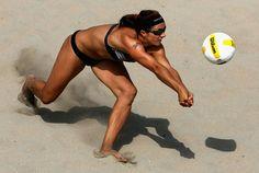 Misty-May Treanor- Beach volleyball Olympic gold medalist. Beach Volleyball, Women Volleyball, Mountain Biking, Misty May Treanor, Kerri Walsh Jennings, Female Athletes, Women Athletes, Girls Be Like, Sports Women