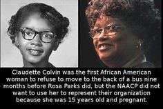 Claudette Colvin There are secerts in history, that why I don't trust history Black History Quotes, Black History Facts, Strange History, Black History Inventors, Black History People, Claudette Colvin, Refugees, By Any Means Necessary, African American History