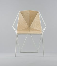 is a minimalist, polygon shaped chair designed by Maxim Scherbakov. A beautiful chair for a modern interior. Geometric Furniture, Contemporary Furniture, Cool Furniture, Furniture Design, Take A Seat, Furniture Inspiration, Wood Design, Interiores Design, Chair Design