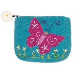 Felt Coin Purse - Magical Butterfly Handmade and Fair Trade
