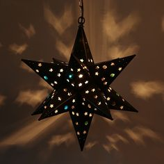 Hanging Mexican Punched Tin Star Light With Marbles Up Your Night Our Awesome