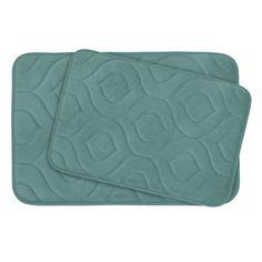 Naoli Large 2 Piece Micro Plush Memory Foam Bath Mat Set
