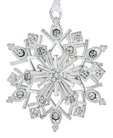 Sterling Collectables | 2012 Lunt Jeweled Snowflake 2nd Edition Silverplate Ornament