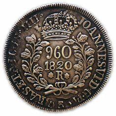 960 reis  1820  -  Brasil Johann Moritz Rugendas, Save Mother Earth, Wilhelm Ii, Foreign Coins, Coin Shop, Coin Worth, Antique Coins, World Coins, Rare Coins