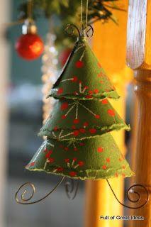 Diy Scrapbook paper tree ornament - Tutorial