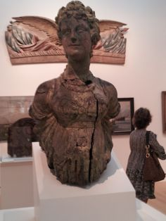One of the oldest wooden figureheads that was actually on a ship. Peabody Essex Museum.