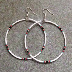 Items similar to Native American Style Beaded Hoop Earrings on Etsy Items . Items similar to Native American Style Beaded Hoop Earrings on Etsy Items similar to Native Seed Bead Jewelry, Bead Jewellery, Cute Jewelry, Jewelry Crafts, Beaded Jewelry, Beaded Necklace, Beaded Bracelets, Necklaces, Beaded Earrings Patterns