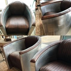 Funky & Comfortable Industrial Chairs look so great with Natural Reclaimed Wood!