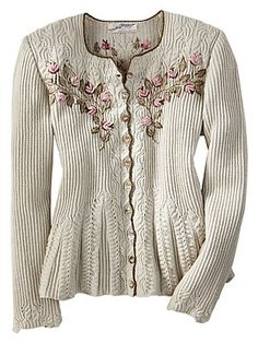 Wouldn't it be wonderful if you had the pattern to knit this gorgeous sweater!!