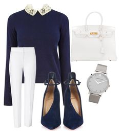 """""""##"""" by aida-bricic ❤ liked on Polyvore featuring Oasis, Christian Louboutin, ESCADA, Hermès and Larsson & Jennings"""