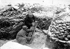 Les premières lignes près du saillant de Saint-Mihiel et la ville de Pont-à-Mousson en février 1916. – ECPAD