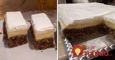 """Perfektný recept z časopisu, pod názvom """"Zákusok lenivej gazdinky"""", dá sa upraviť ako len chcete - krém pokojne môžete skúsiť aj iný a šľahačku môžete celkom vynechať. Je to na vás. Výsledok je vždy perfektný! :-) Vanilla Cake, Tiramisu, Muffin, Cheesecake, Pudding, Sweets, Food And Drink, Cookies, Ethnic Recipes"""