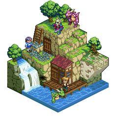 dot_illuist_001.gif (256×256) Isometric Art, Isometric Design, Voxel Games, Cool Pixel Art, 8 Bit Art, Pixel Art Games, Game Concept Art, Environmental Art, Cartoon Styles